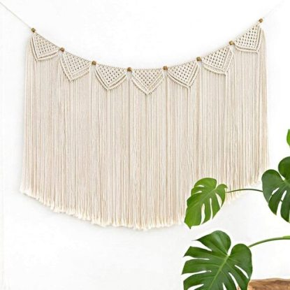 Mkono Macrame Wall Hanging Curtain for Home