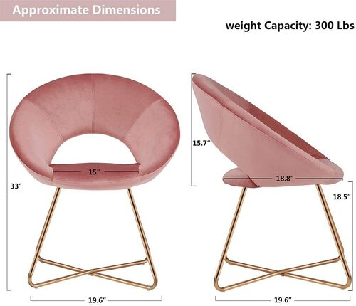 Duhome Elegant Lifestyle Pink Accent Home Office Chair