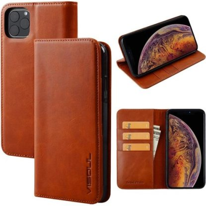 Visoul Leather Wallet Case for iPhone 11 Pro Max with Magnetic Closure Credit Card Holder