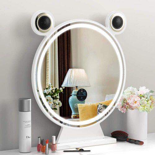 Bluetooth Speaker Vanity Makeup Mirror with Lights by Rinkmo