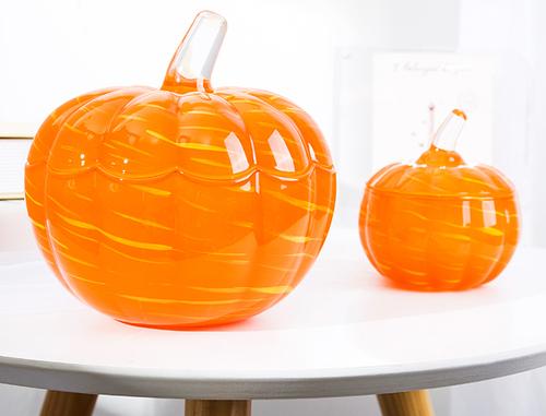 transparent pumpkin candy jar