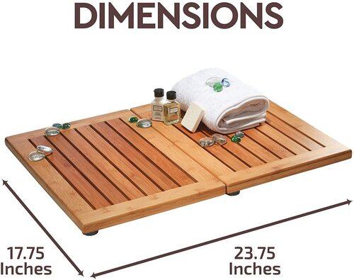 Bambusi Bamboo Bathroom Mat, Shower Floor Mat, Outdoor Mat, Door Mat