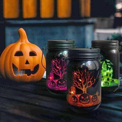 Halloween LED light mason jars by MJ PREMIER