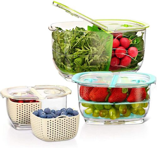 LUXEAR 3 pcs Food Storage Containers