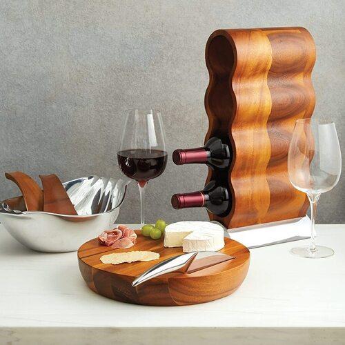 Nambe Curvo Wood Wine Rack the Best Gift