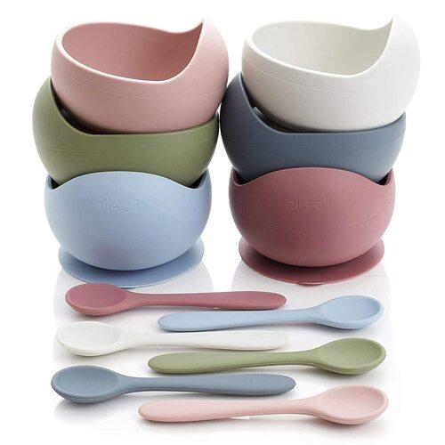 Ali+Oli Baby Feeding Bowl with Spoon