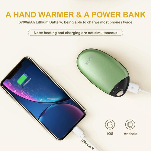 HOMITT Portable Hand Pocket Warmer with 5 security protection