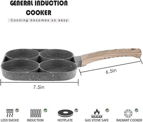 MIUGO Aluminium Alloy, Non-stick Egg Pan with Bakelite Handle