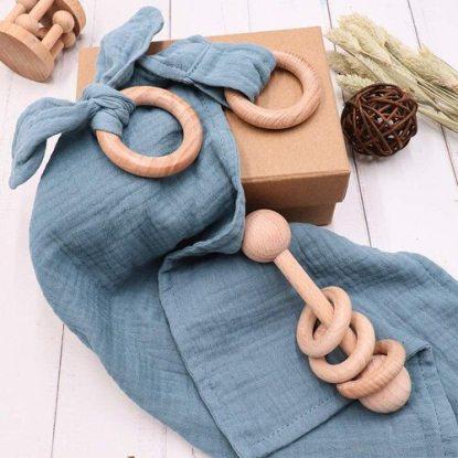 TANOFAR Montessori Teething Toys Baby Shower Gift