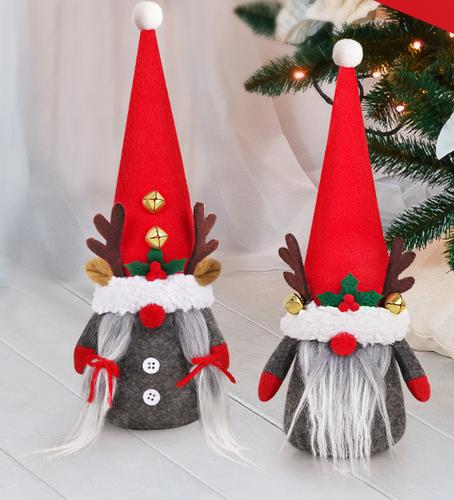 D-FantiX 2pcs Reindeer Christmas Gnomes in Gift Box