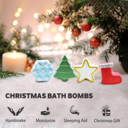 DIGO 4pcs Bath Bomb in Christmas Gift Box