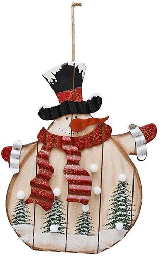 E-view Rustic Xmas Decoration for Door Wall Fireplace