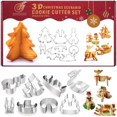 PHIAKLE Christmas food-grade stainless steel cookie cutter