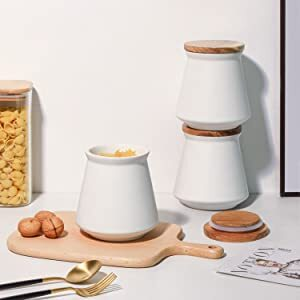 ComSaf Airtight Canisters with Wood Lid