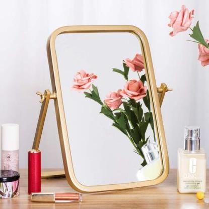 Geloo Golden Rectangle with Round Corner Vintage Vanity Makeup Mirror