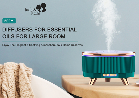 Jack & Rose 500ml essential oil diffuser beautiful piece for home decor