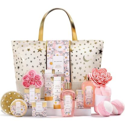 Spa Luxetique 15pcs Bath Gift Basket for Her