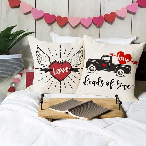valentines day throw pillow cover