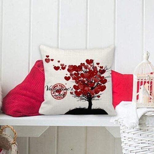 valentines decorative pillow case