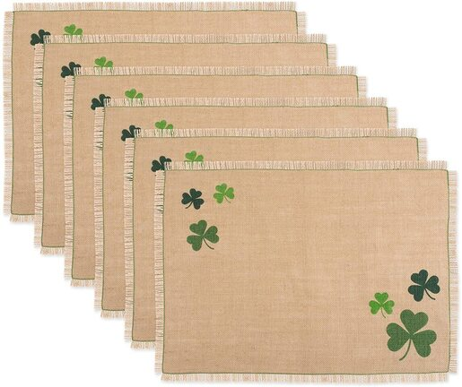 DII shamrock placemat set for St Patrick's Day