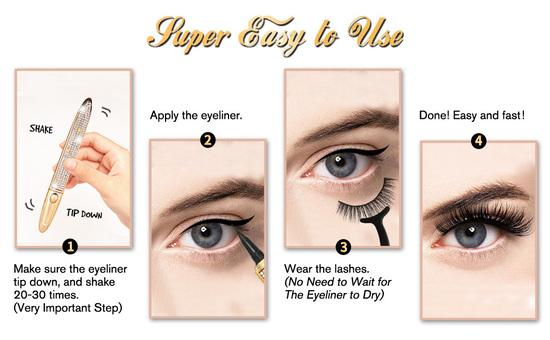 GXO BEAUTY Magic Eyelashes with Eyeliner How to Use
