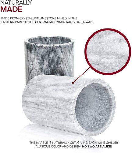 Modern Innovations Versatile Grey Marble Wine Bottle Cooler for Wine Lovers