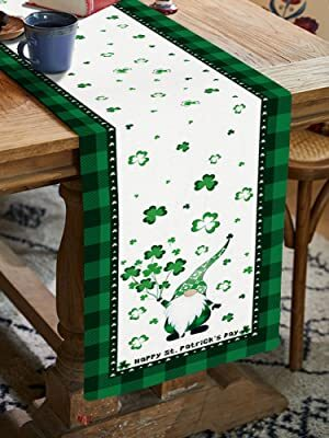 Prime Leader St. Patrick's Day Decorative Heat Resistant Table Runner