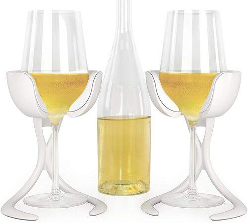 VoChill 2pcs personal wine glass chiller