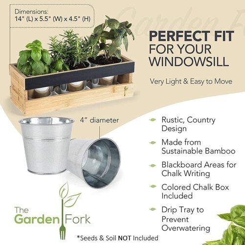 The Garden Fork window herb planter