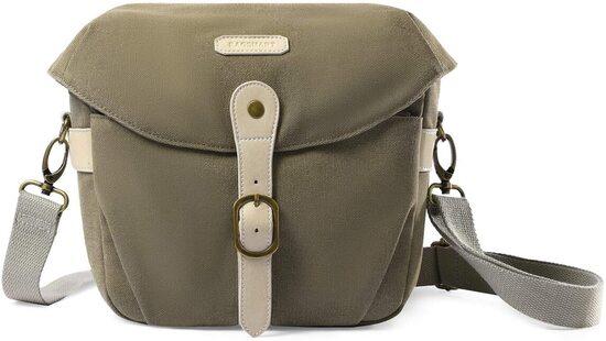 BAGSMART Water-repellent Canvas Camera Shoulder Bag