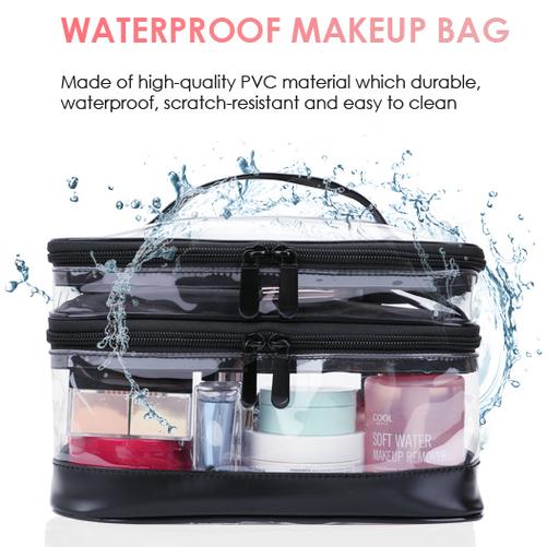 KIPBELIF Portable Transparent Waterproof Multipurpose Organizer Travel Bag