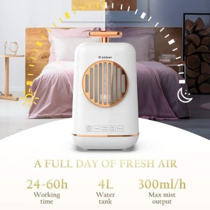 Keebar 4L Ultrasonic Humidifier and Essential Oil Diffuser with Touch Panel and Remote Control