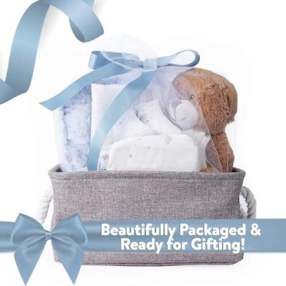 Lily and Page 8pcs Baby Shower Gift Set with Basket