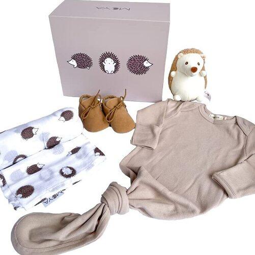 MOYA Unisex 5 pieces Hedgehog Theme Baby Shower Gift Set