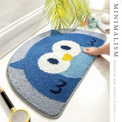 Molesun Cute Owl Pattern Bathroom Rug Mat