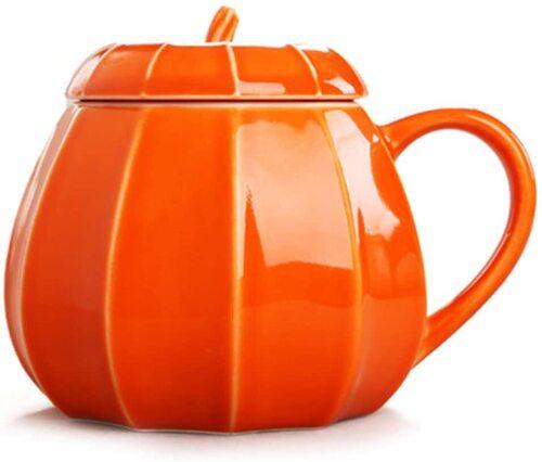 VANUODA Fall Pumpkin Mug with Lid Gift Idea