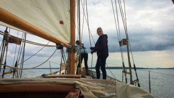 Sofie on the halyard