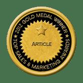 Top Sales & Marketing Awards Gold medal winner article