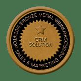 Bronze Medal - CRM Solution 2014 Top Sales & Marketing Awards