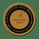Bronze Medal - Blog 2014 Top Sales & Marketing Awards