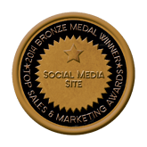 Bronze Medal - Social Media Site 2014 Top Sales & Marketing Awards
