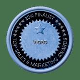 Finalist Medal - Video 2014 Top Sales & Marketing Awards