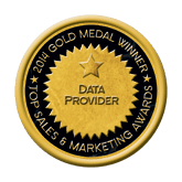 Gold Data Provider 2014 Top Sales & Marketing Awards
