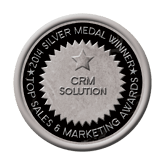 Silver Medal - CRM Solution 2014 Top Sales & Marketing Awards