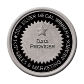 Silver Medal - Data Provider 2014 Top Sales & Marketing Awards