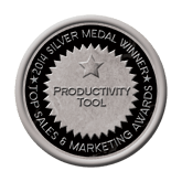 Silver Medal - Productivity Tool 2014 Top Sales & Marketing Awards