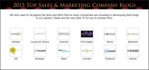 Top Sales & Marketing 2015 Company Blog