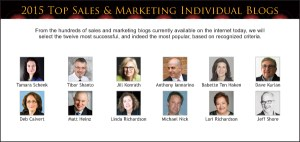 Top Sales & Marketing 2015 Individual Blog
