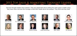 Top Sales & Marketing 2015 Thought Leader