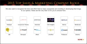 Top Sales & Marketing Awards 2015 Company Blog